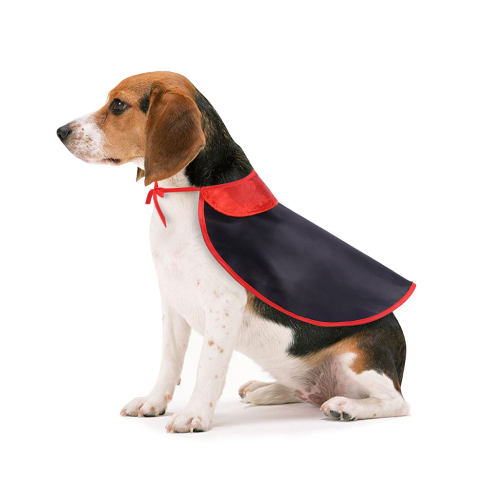 Pet Dog Halloween Costume Cloak for Party Decoration Accessories black_S