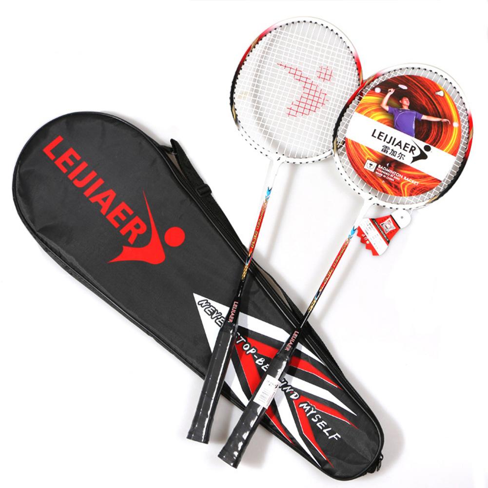 2pcs Badminton Racquet Light Weight Aluminium Alloy Hardness for Training and Sport Equipment blue