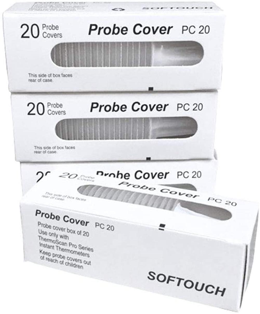 20pcs/box Universal Disposable Ear Thermometer Probe Cover Plastic Earmuff 100pcs/5 box