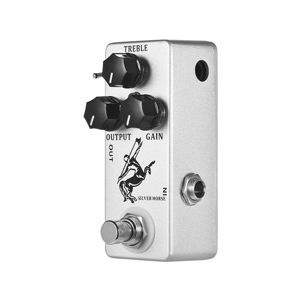 Mosky SILVER HORSE Electric Guitar Mini Effect Pedal Overdrive Effect Pedal Silver