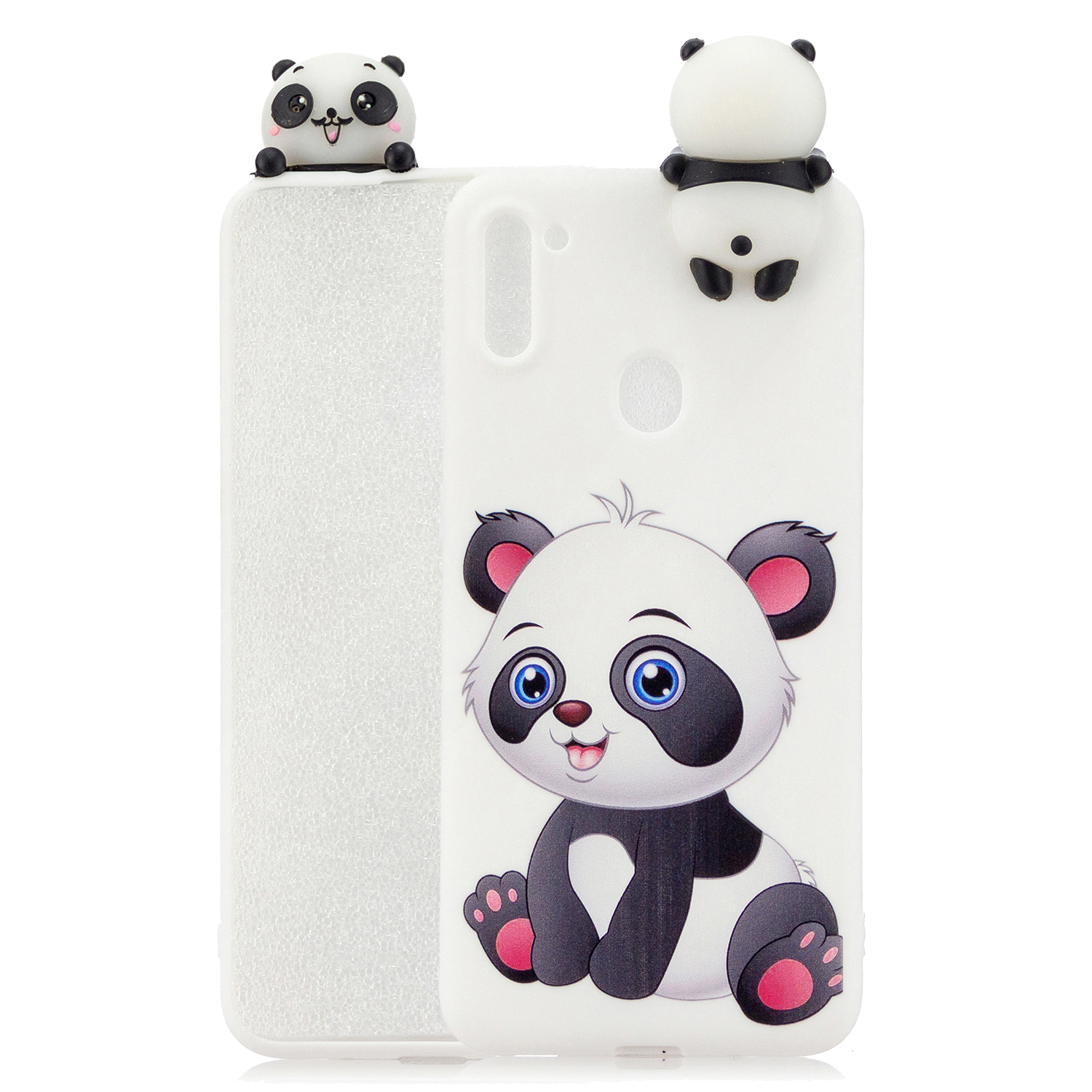 For Samsung A11 Soft TPU Back Cover 3D Cartoon Painting Mobile Phone Case Shell A panda