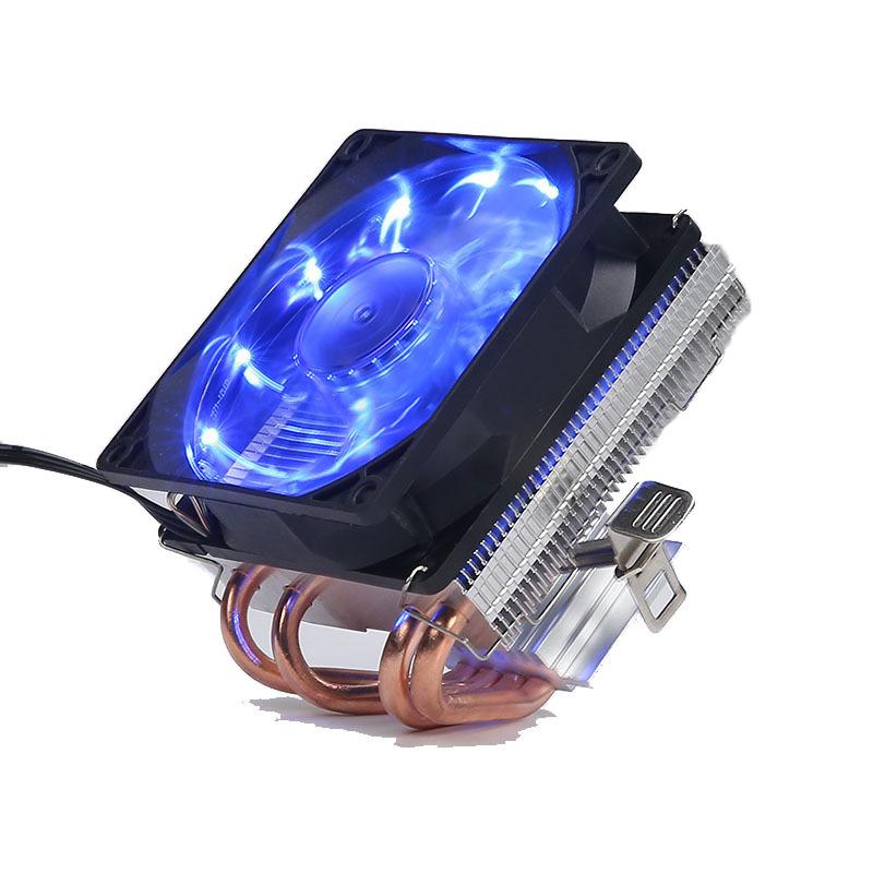 4 Copper Tubes Fans CPU Cooler LED CPU Cooling Fan PWM Silent CPU Cooler LGA/115X/775/AMD 3Pin PC CPU Cooling Radiator  LGA115X/775 Streamer blue