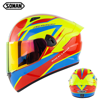 Motorcycle Helmet Anti-Fog Lens sith Fast Release Buckle and Ventilation System Wearable Ergonomic Helmet Mars_M