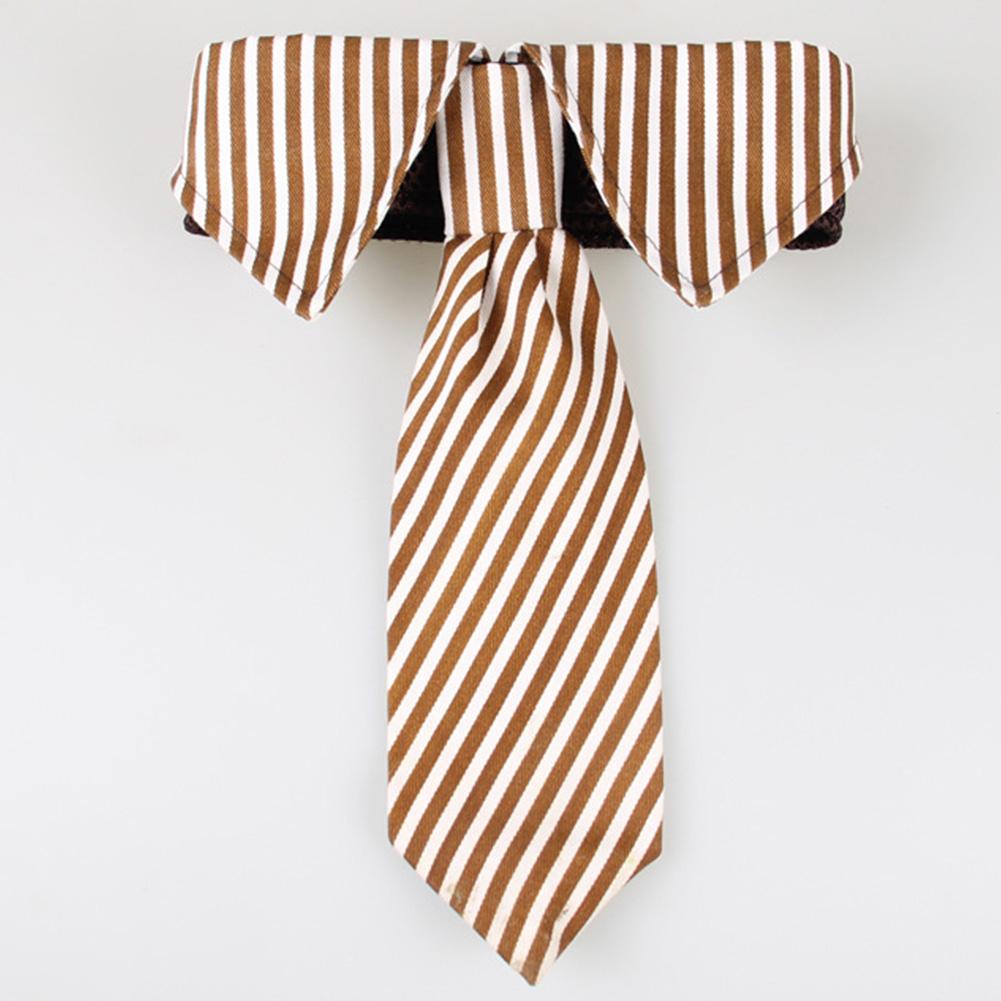Pet Dog Formal Necktie Tuxedo Bow Tie Collar Decoration Wedding Holiday Party Puppy Supply Brown_S