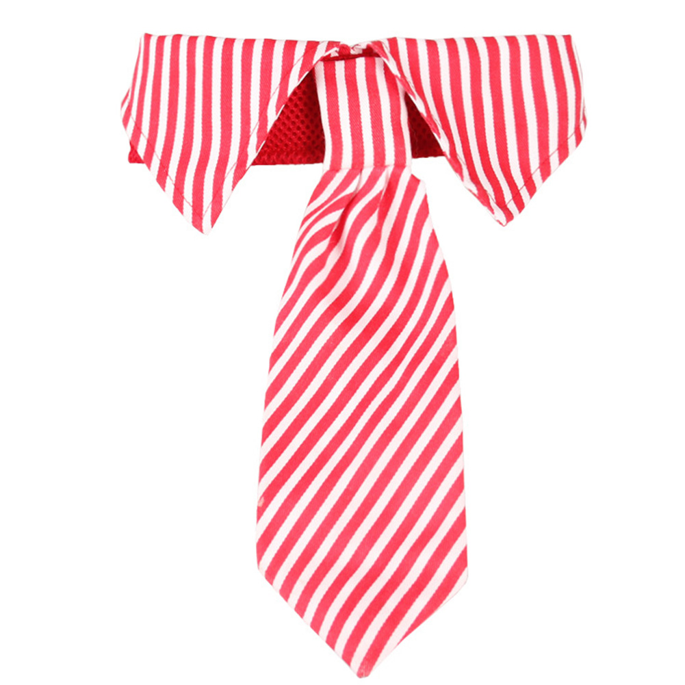 Pet Dog Formal Necktie Tuxedo Bow Tie Collar Decoration Wedding Holiday Party Puppy Supply Red_S