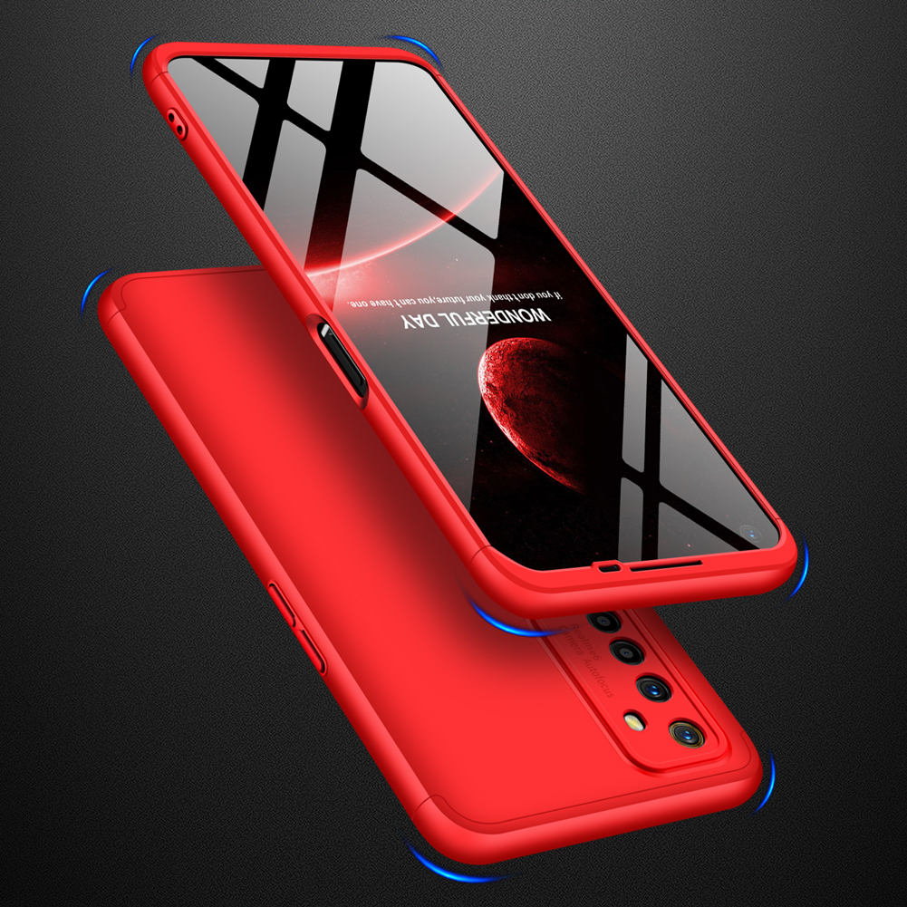 For OPPO Realme 6 Mobile Phone Cover 360 Degree Full Protection Phone Case red