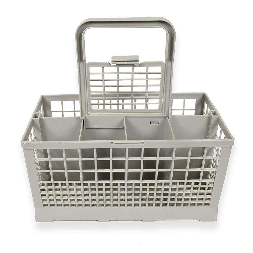 Universal Dishwasher Cutlery Basket Storage Box for Tableware Cutlery Drying Storage Silver