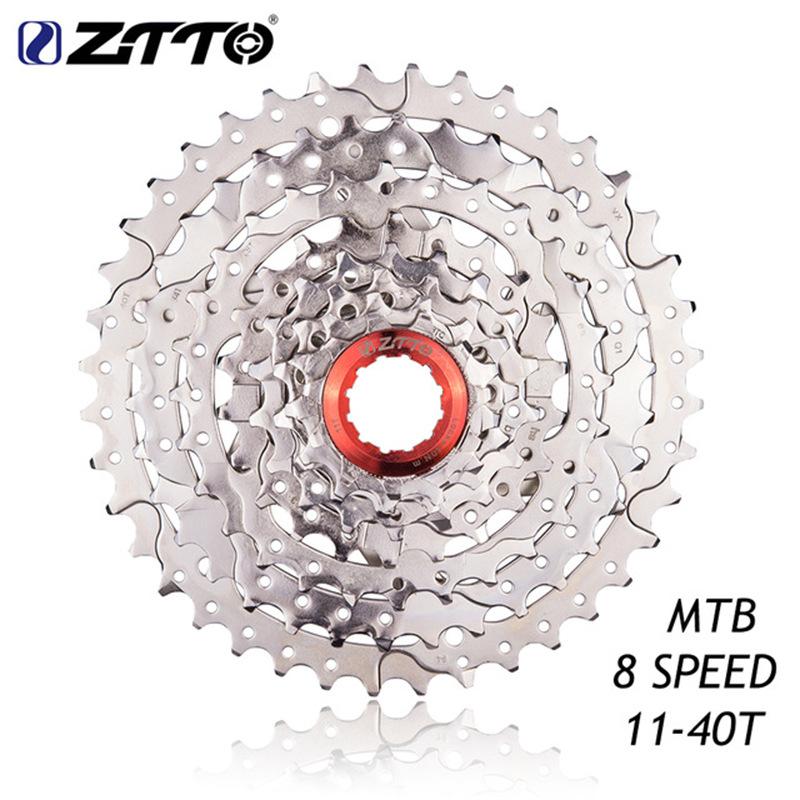 8-speed Bike Flywheel Cassette 11-40t All Silver Flywheel for Mountain Bike Silver
