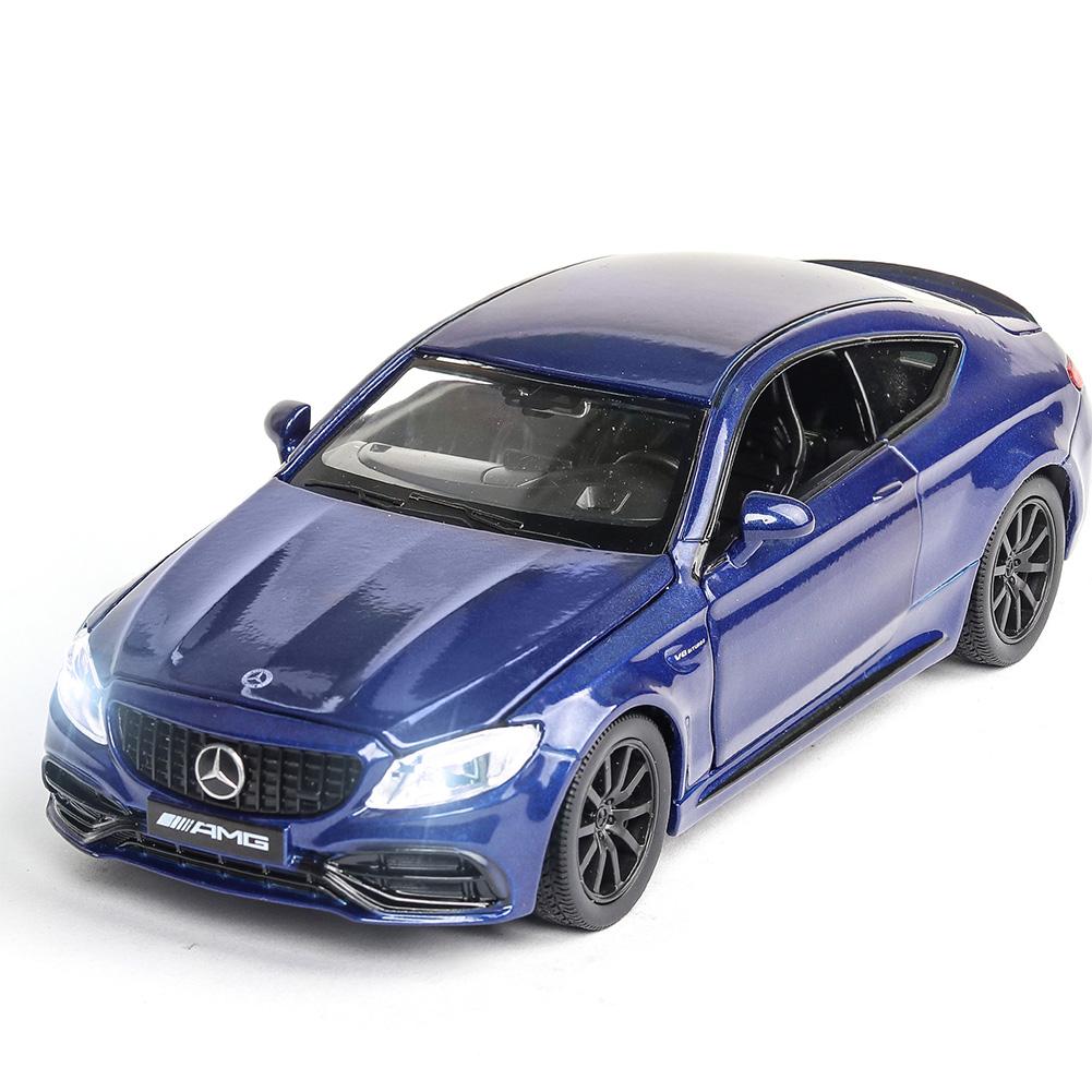 1:32 Alloy Car Model Vehicle Model Simulation Family Car Model Car Ornaments blue