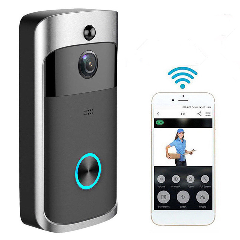 Wireless WiFi DoorBell Global Shipping -Black