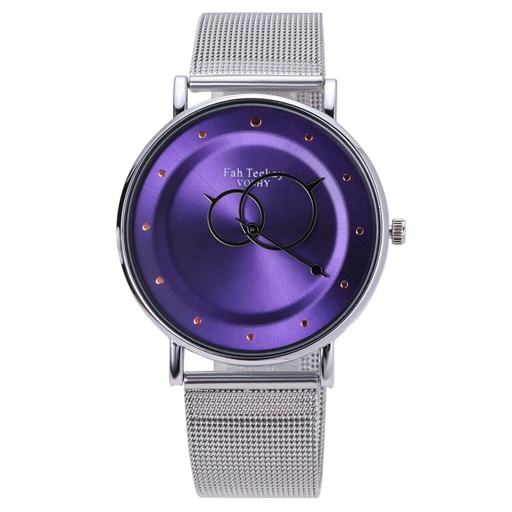 Unique Digital Ring Needle Casual Fashion Leather Band Quartz Watch