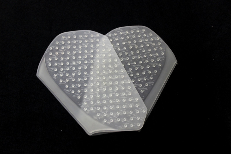 1 Pair Motorcycle Side Oil Box Anti Slip Protector Pad for HONDA CBR600RR 13-16 Transparent