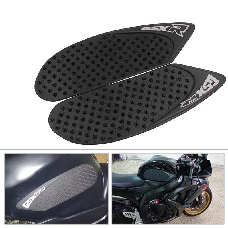 For Suzuki GSXR600 GSXR750 06-07 Protector Anti Slip Pad Knee Grip Traction Side Decal black