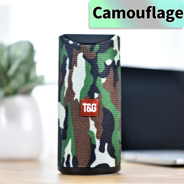 Bluetooth Speaker Portable Built In Battery Pluggable Card Wireless Speaker camouflage
