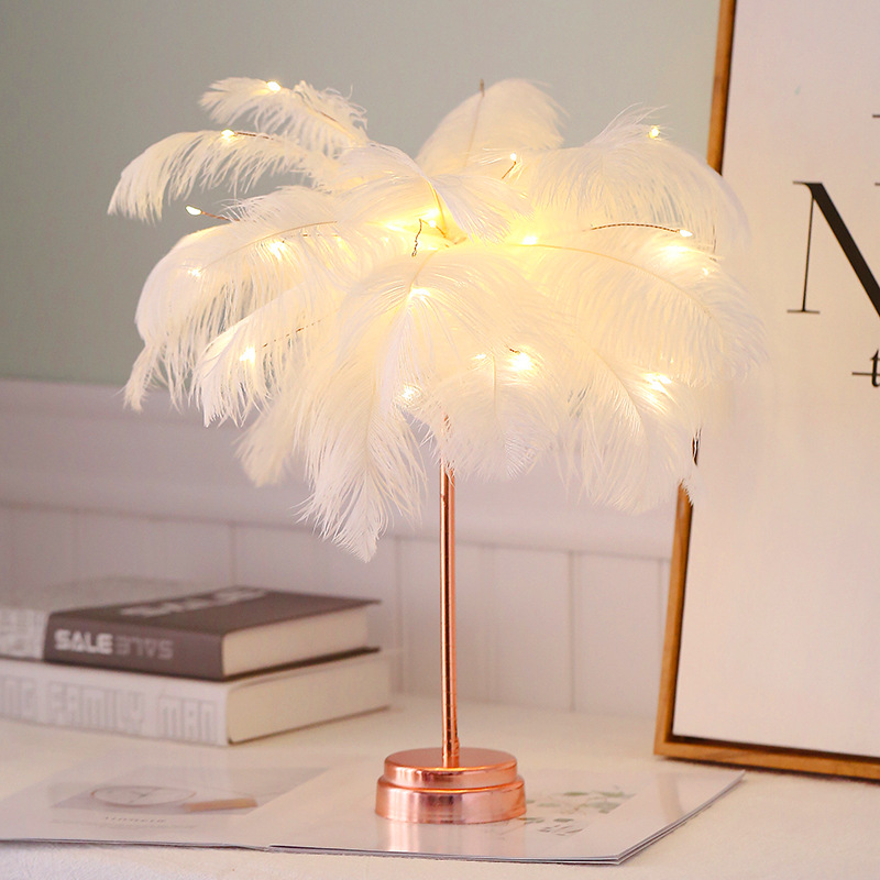 Feather Table Lamp Tree Shape Led Wedding Decorative Girl Bedroom Flashing Light White Feather Battery Australia New Range Of Led Light Bulbs At Best Prices In Au