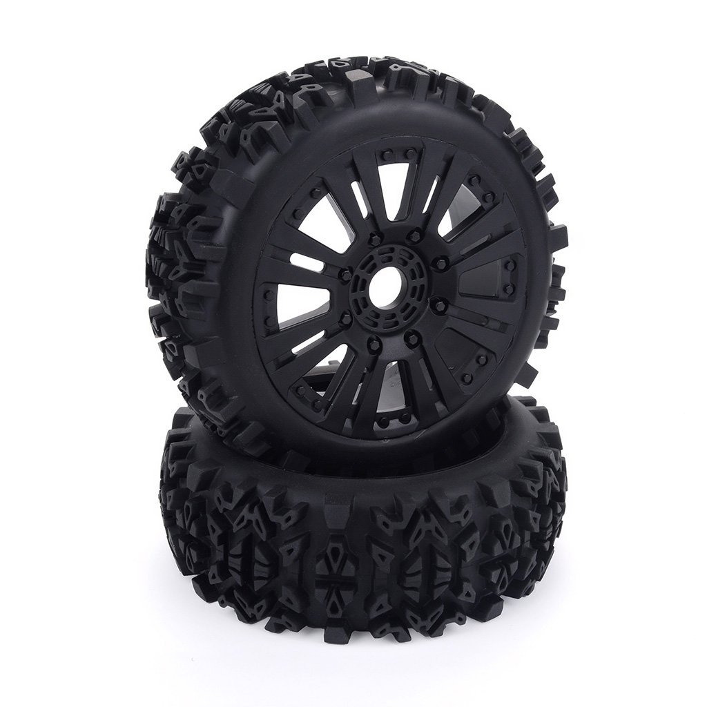 2PCS 1/8 Off-road Car Buggy Wheels Tires for Redcat Team Losi  VRX HPI Kyosho HSP None_2pcs