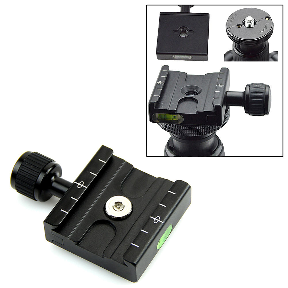 QR-50 Quick Release Plate Clamp Mount Adapter Tripod for Benro Arca Swiss black