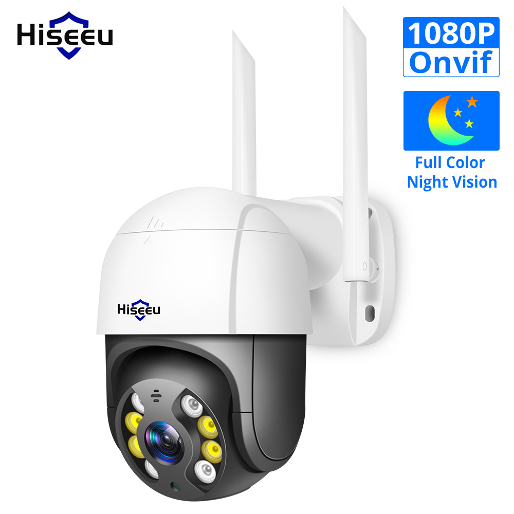 Mini 1080P Wireless PTZ IP Camera Onvif Outdoor Waterproof Speed Dome Camera P2P Two Way Audio CCTV black
