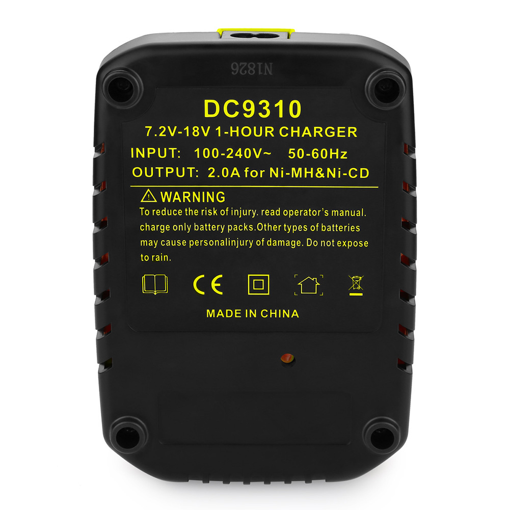 Replacement for Dewalt Nickel Battery Charger 7.2V-18VDC9310