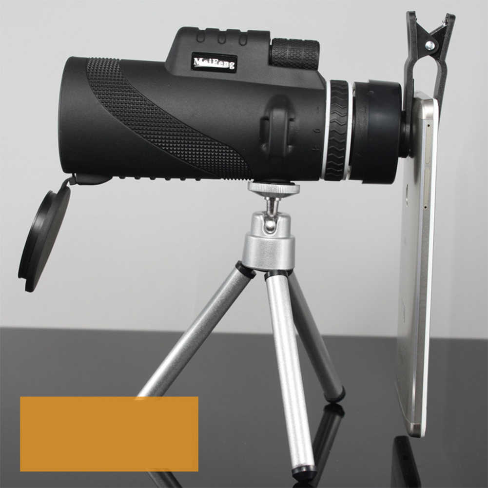 40x60 Monocular Telescope Ultra-high Transmittance Portable Telescope MF40x60 (with bracket simple clip)