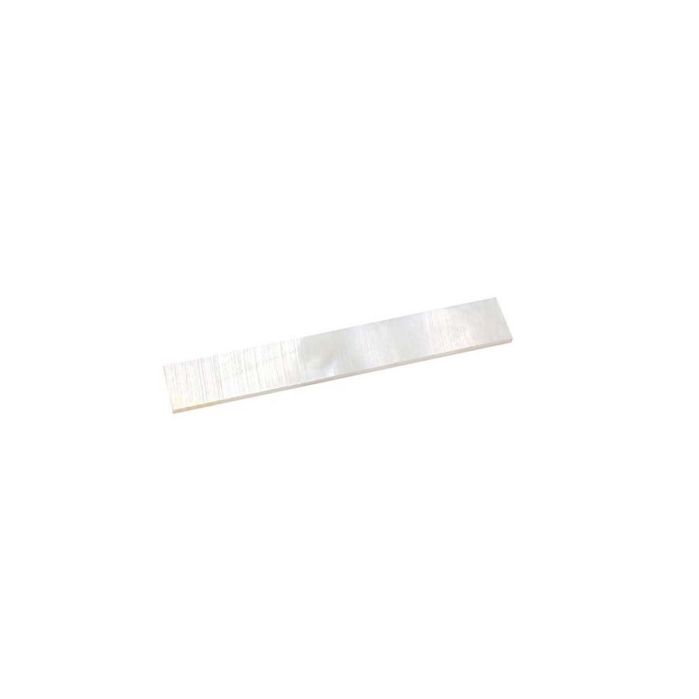 10Pcs Rectangular Decorate Inlay Material White Mother of Pearl Shell Blanks 43*7mm Thickness 1.2mm white