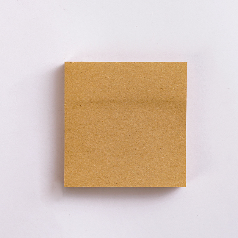 Kraft  Paper  Sticky Note  Square  Tearable  N-time   Sticky Note  Student Supplies Quartet small notes-brown blank