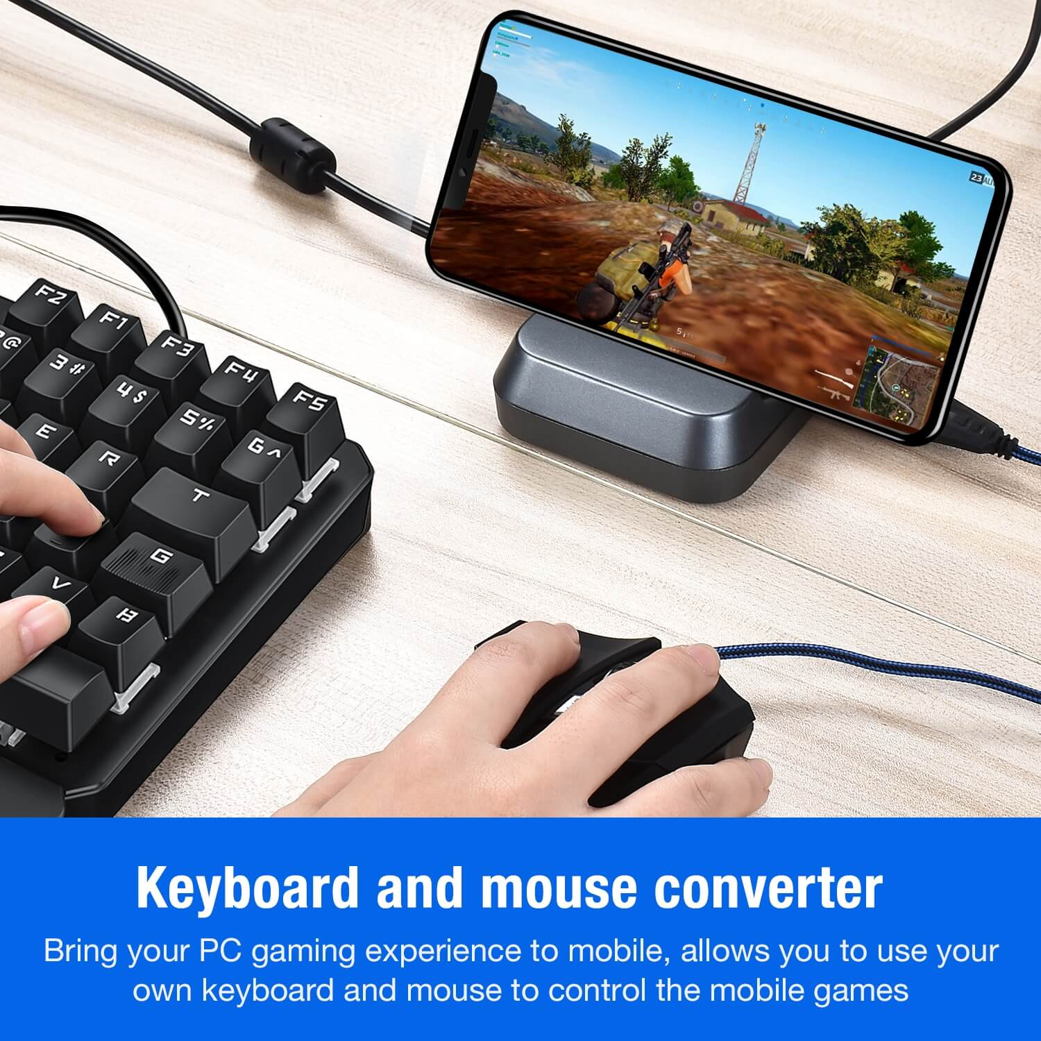 GAMWING NEX PRO Stand Slip-resistant Rubber Shell Plug and Play Support Android IOS for Chicken Game Aim Rate Up Helper black