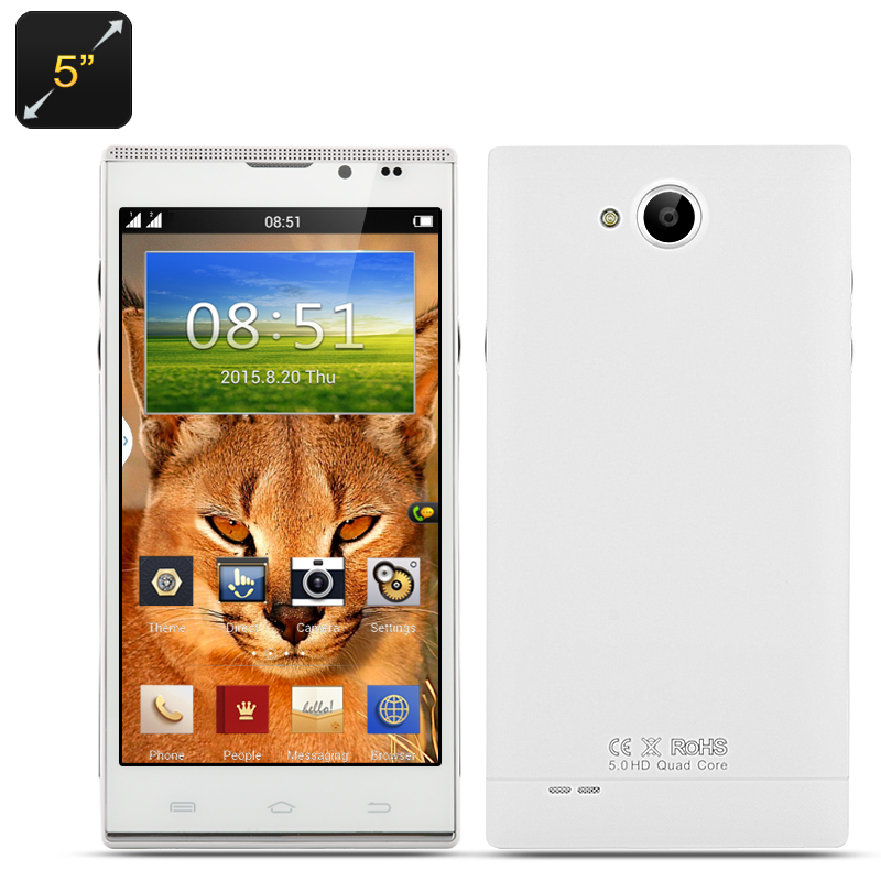 5 Inch Android Smartphone 'Caracal' (White)