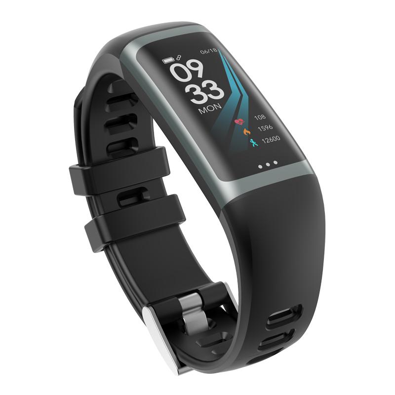 Greentiger G26 Smart Bracelet P67 Waterproof Heart Rate Blood Pressure Oxygen Fitness Bracelet Multi Sport Mode Smart Wristband Black