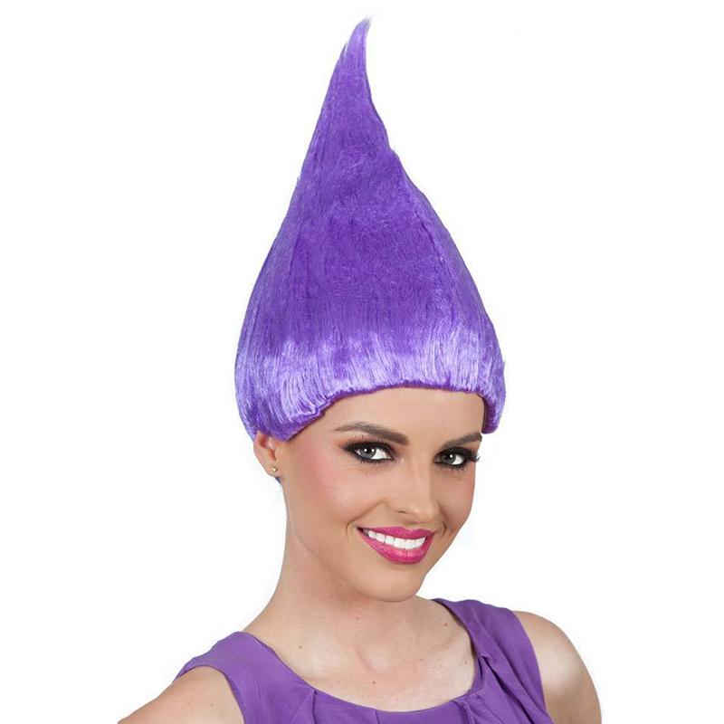36cm Trolls Poppy Wig For Kids Children Cosplay Hair Wigs Halloween Party Supplies purple
