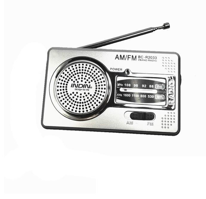 Fm/am  Radio Portable Radio Receiver Abs 100mw Fm Receiver Pocket Radio Digital Music Player Silver