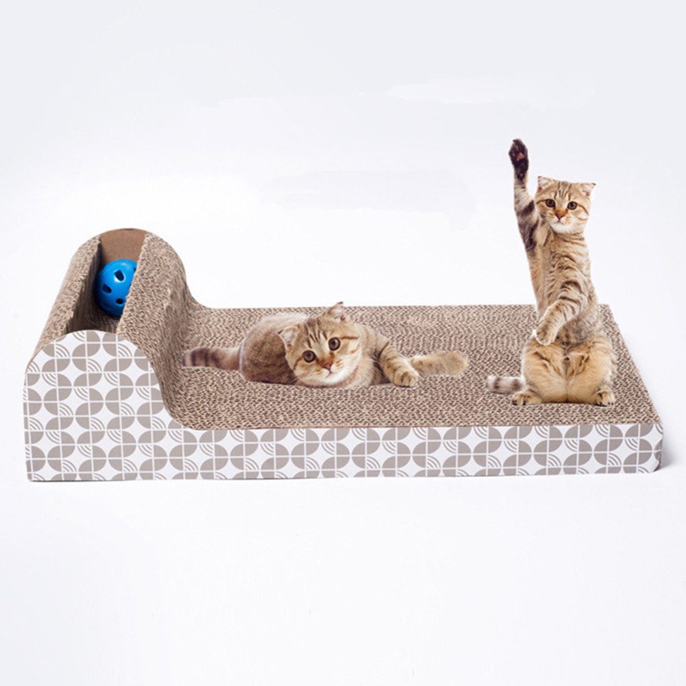 Creative Horizontal Type Cat Scratch Board Cat Scratching Mat Pet Toy Claw Care (Contain Catnip) as shown