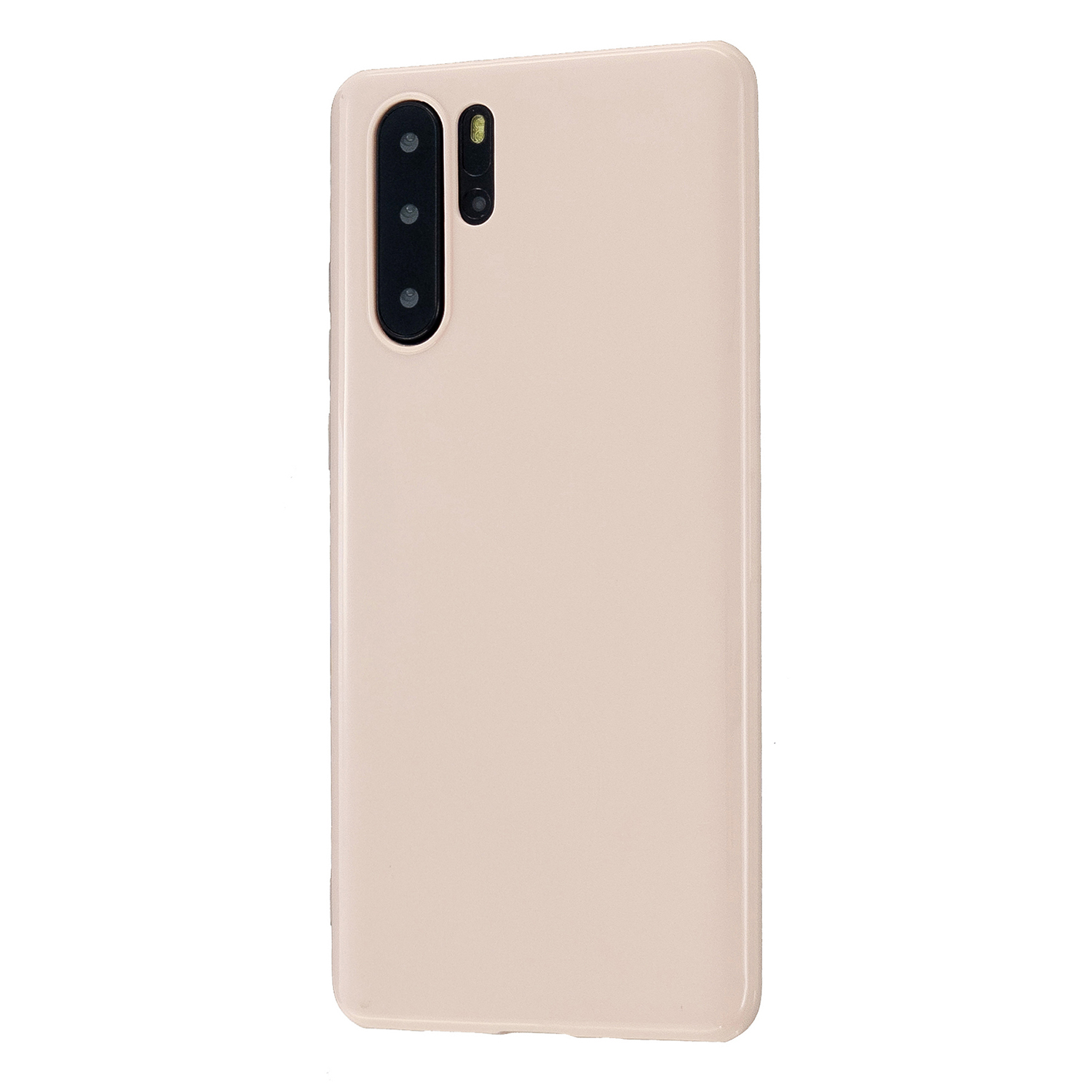 For HUAWEI P30/P30 Lite/P30 Pro Cellphone Case Simple Profile Soft TPU Scratch Proof Phone Shell Sakura pink
