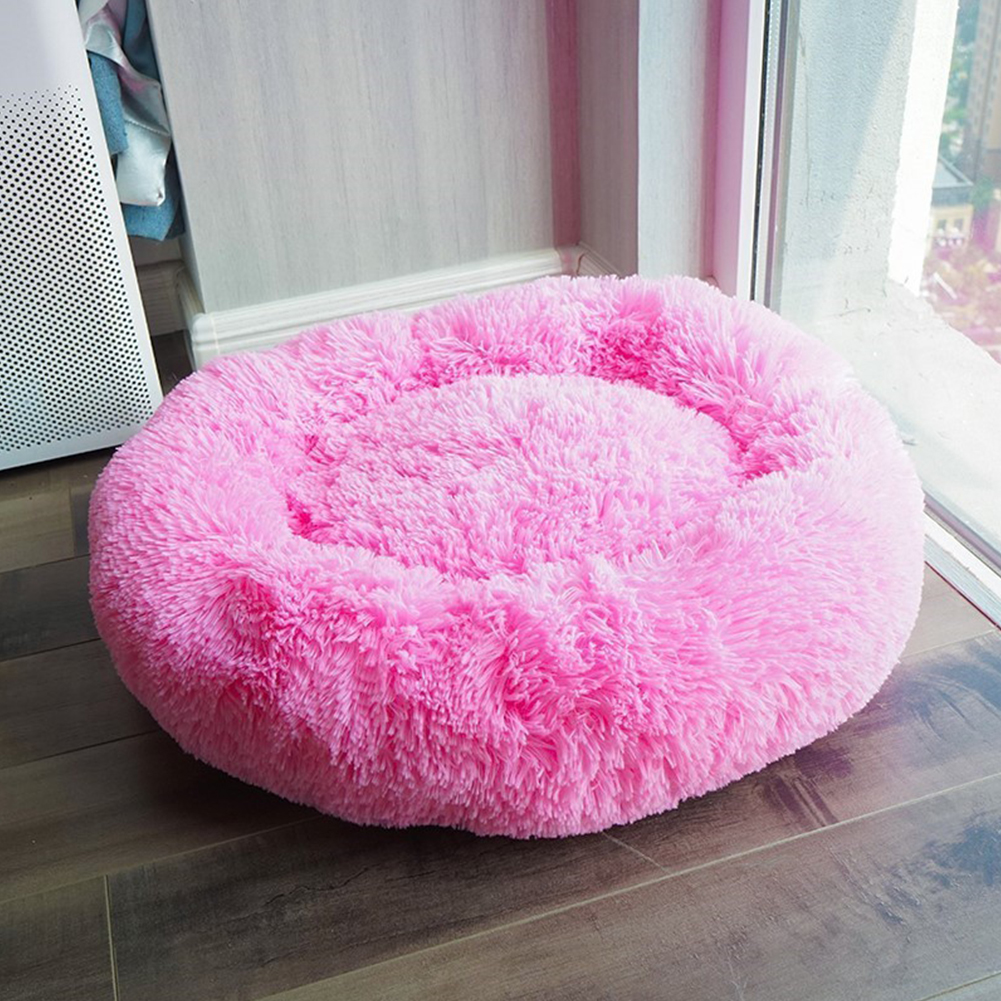 Round Soft Long Plush Sleeping Nest for Small Puppy Dogs