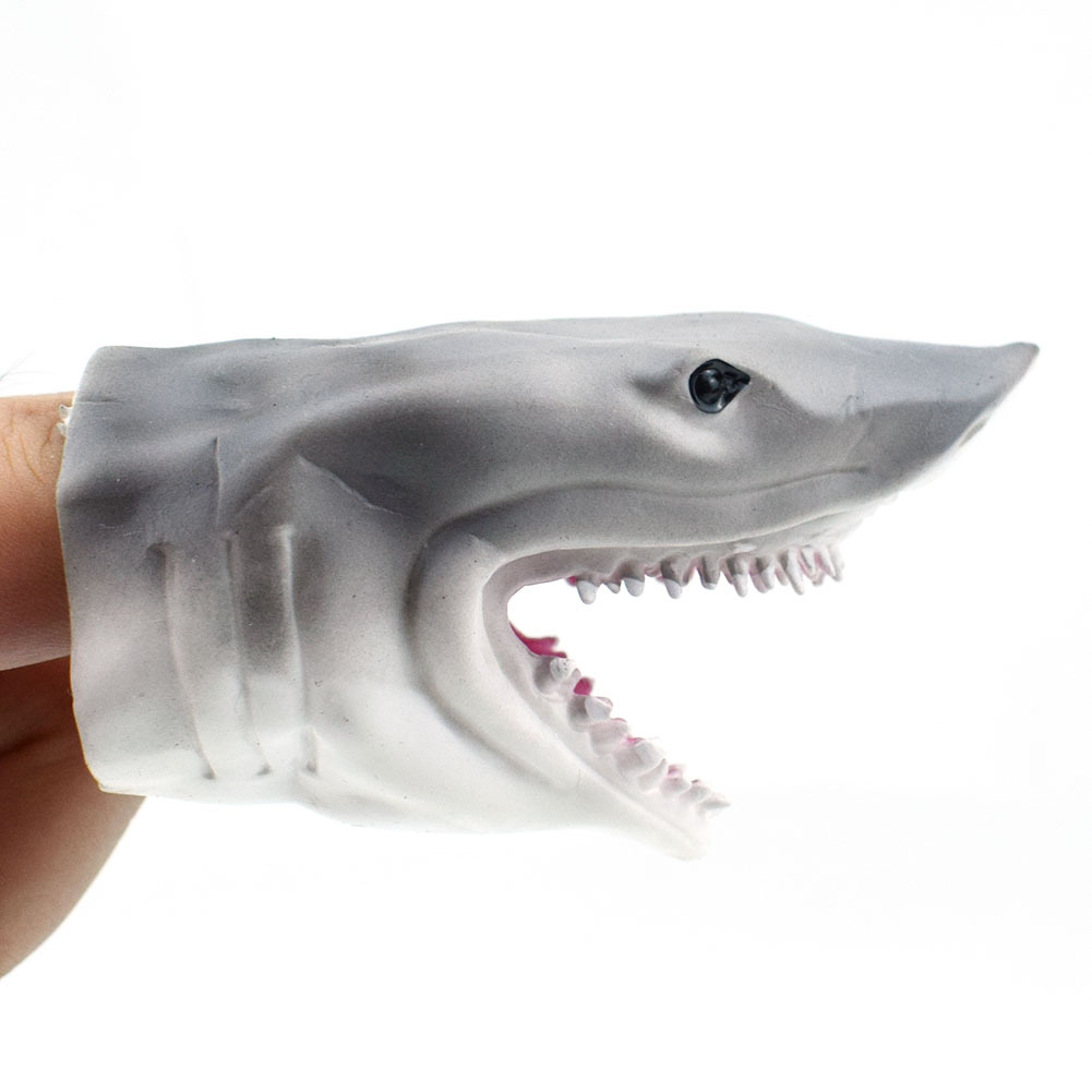 Eco-friendly Simulate Jaws Finger Puppet Parent Child Interactive Toy Prop