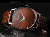 [EU Direct] New Sinobi Brand Leather Strap Quartz Military Waterproof Wristwatch Brand Hot Sale Gokelly