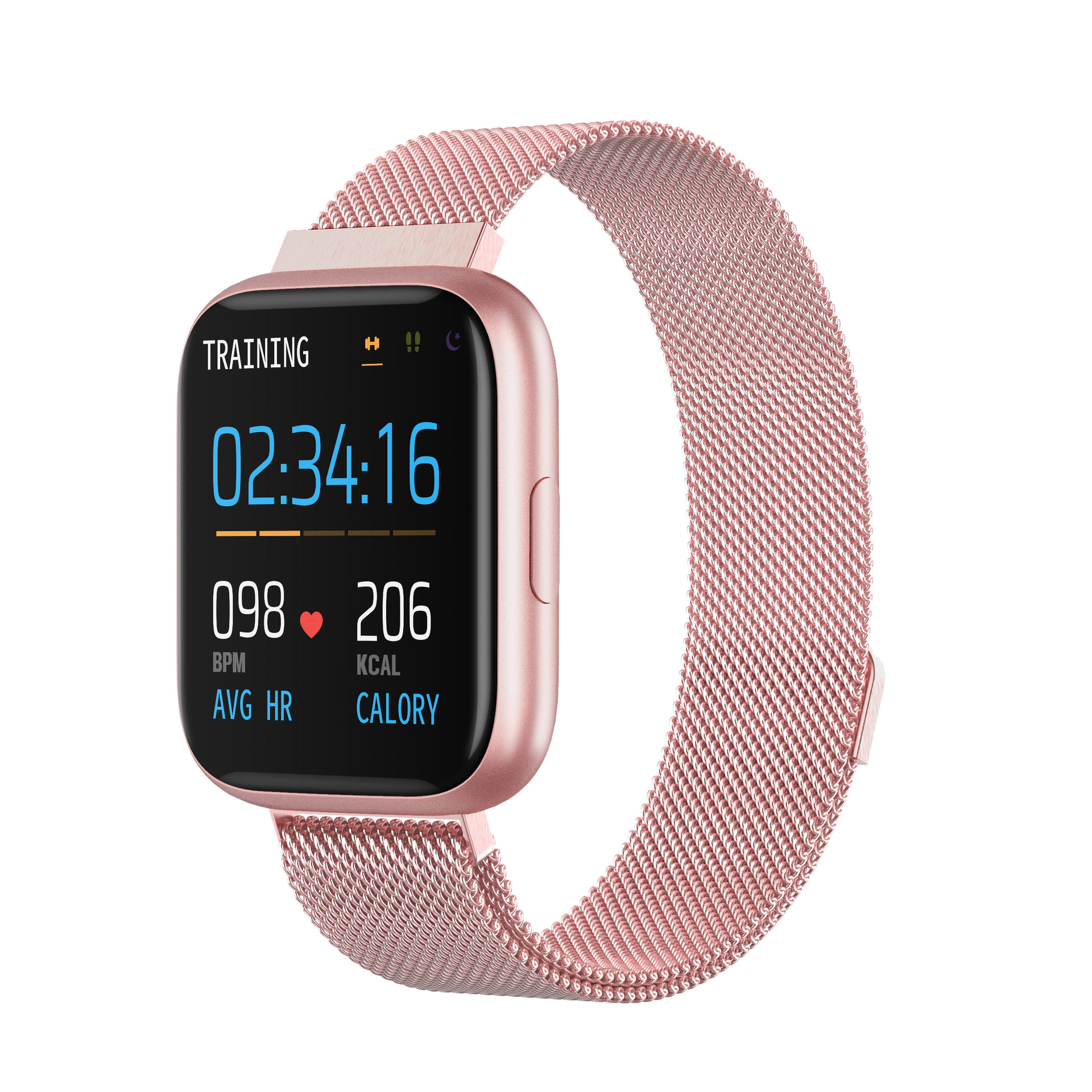 P6 Full Touch Smart Bracelet Heart Rate Blood Pressure Detection Multifunction Exercise Pedometer IP67 Waterproof Fashion Watch 8#