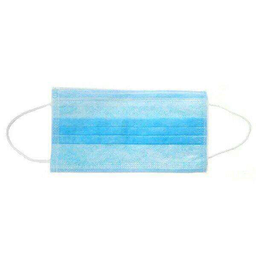 10Pcs/Bag Three-layer Children Protective Mask Blue Disposable Non-woven Mask blue_4-10 years old (S)