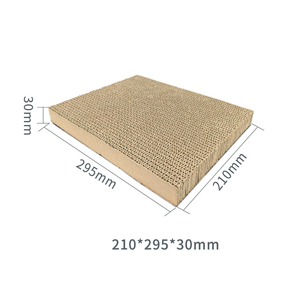 Cat Claw Scratching Cardboard Corrugated Paper Nest Biting Toy Pet Supply Square