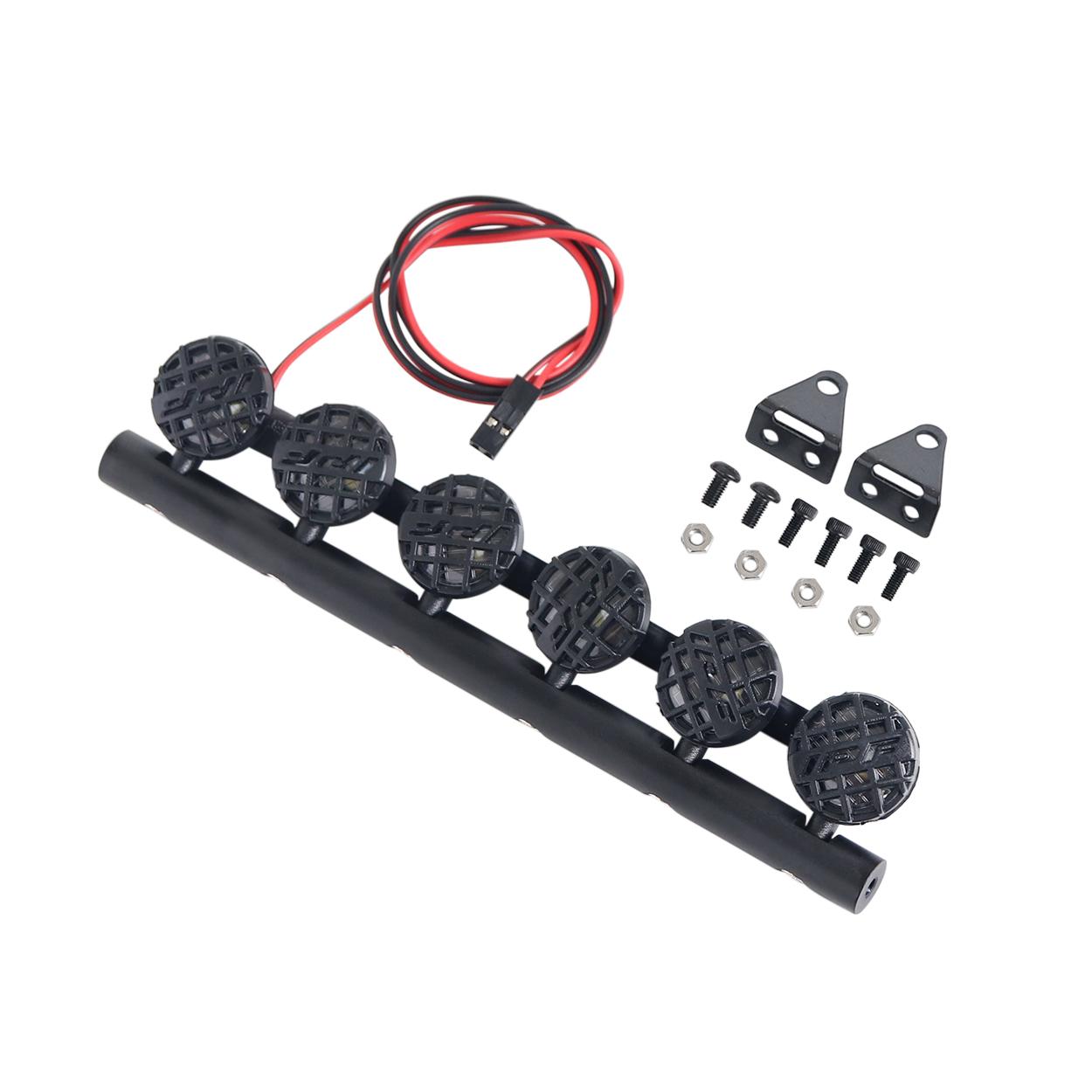 Spotlight LED Car Roof Lights Bar for 1/10 TRAXXAS TRX4 SCX10 90046 90047 D90 D110 RC Crawler Car Upgrade Parts 6 lights
