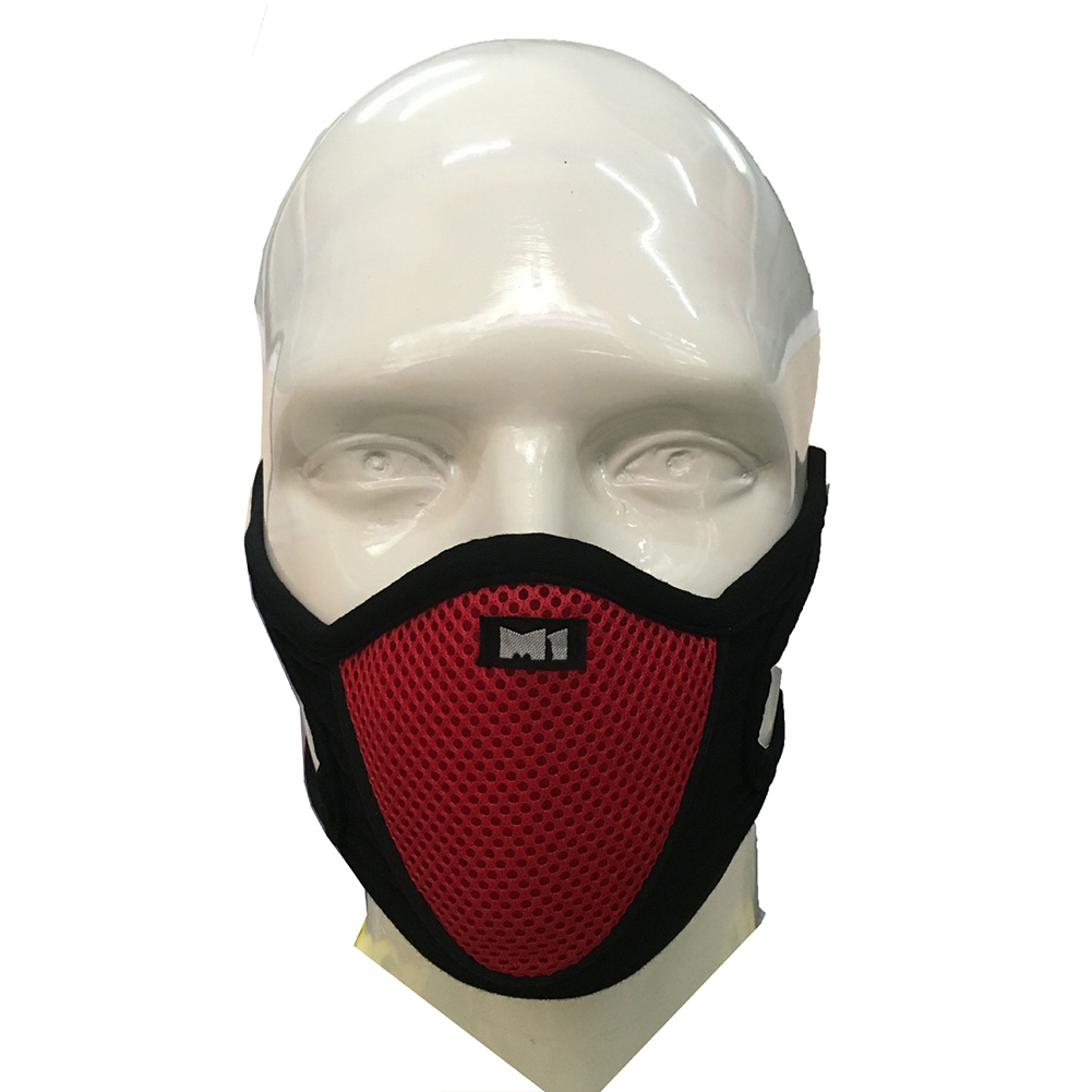 Outdoor Cycling Mask Anti-dusk Wind Proof Anti Pollution Breathable red_One size