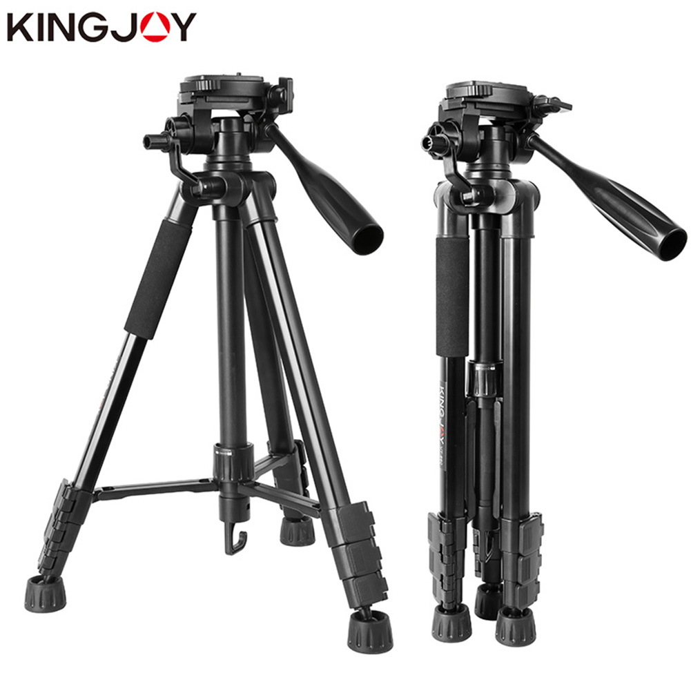 KINGJOY Metal VT-860 Lightweight Holder Photography Camera Video Live Tripod Tripod Set black