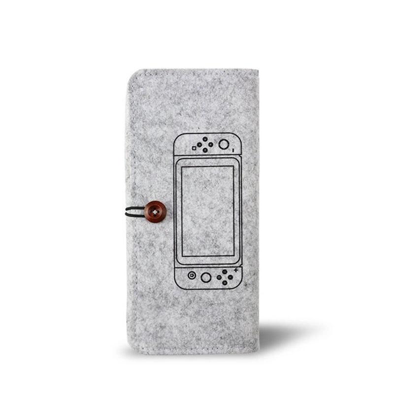 Felt Pouch Protection Storage Bag Portable Soft Bag For Switch Lite Host Protection Storage  Bag light grey