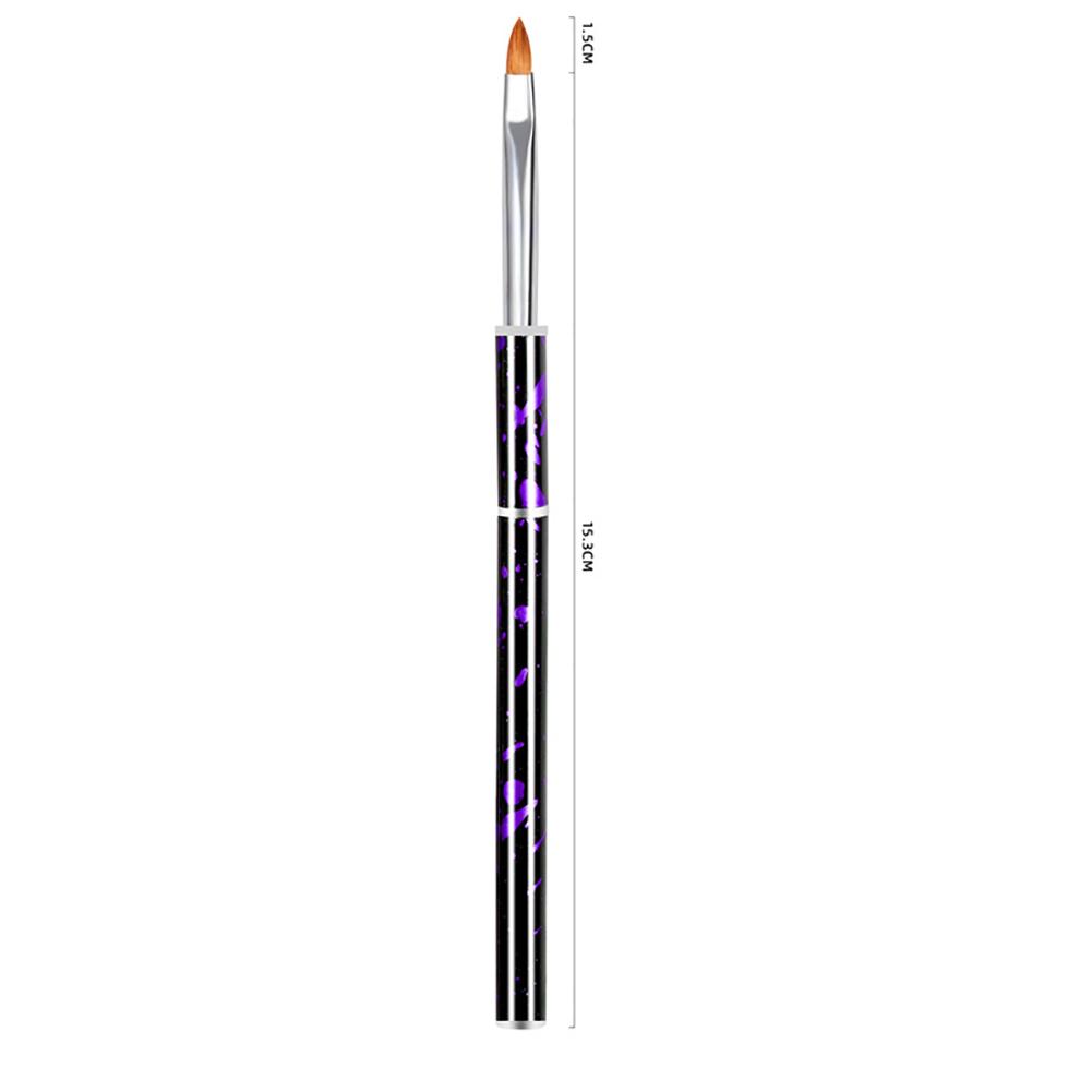 Nail painting brush Graffiti penholder UV gel Nail painting Crystal pen Purple crystal pen