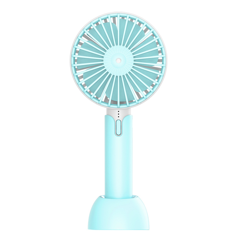 Mini Portable Rechargeable Fan Handheld Mute Tabletop Fan for Home Office Travel X1 (blue)