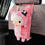 Cute Soft Pink Plush Master Rabbit Tissue Box Cover Car Accessories Home Decor