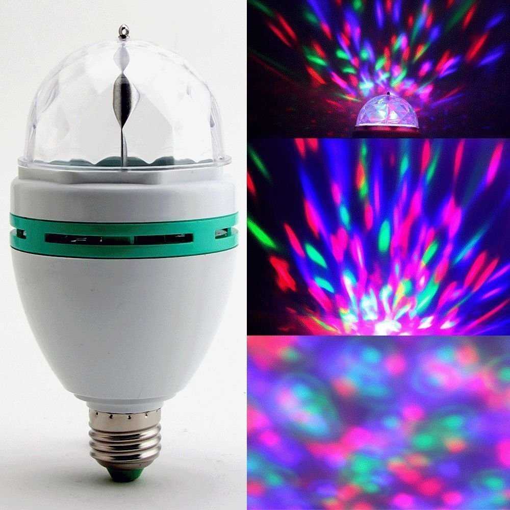 RGB Crystal Ball Rotating Stage Light