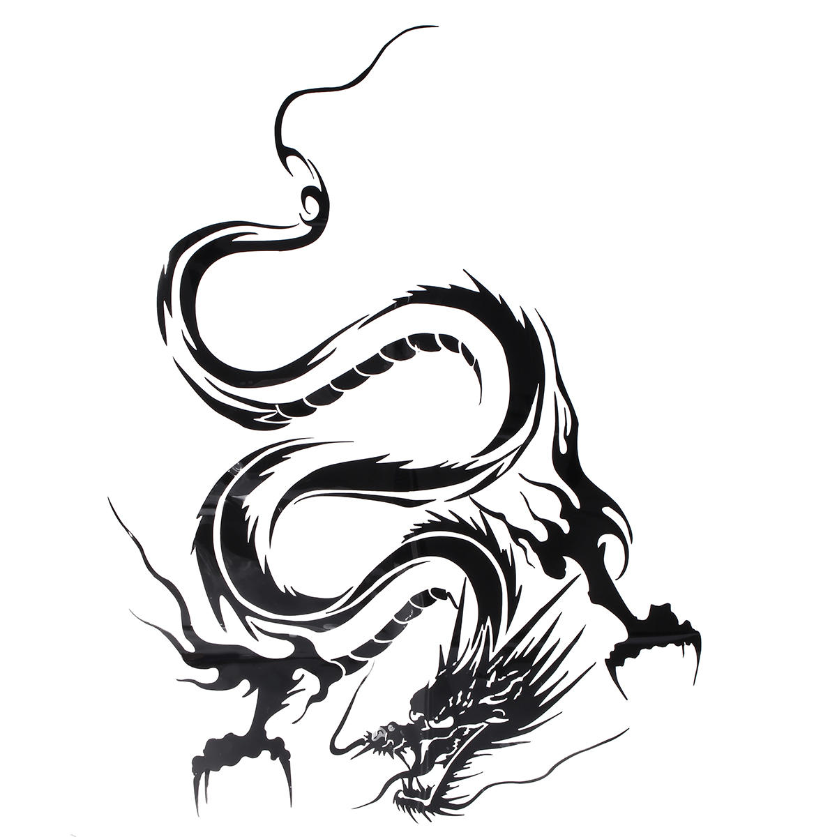 Reflective Dragon Totem Scratching Decals Car Stickers Full Body Car Head Styling Sticker black