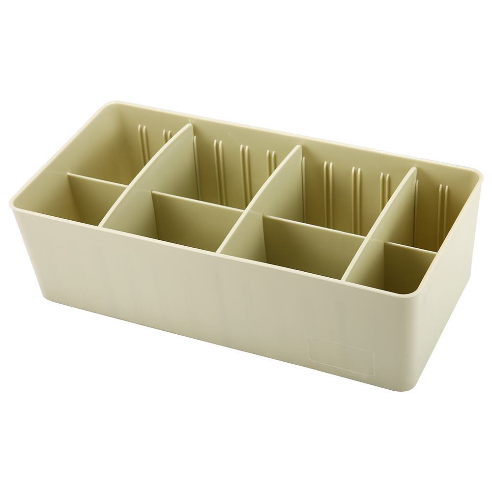 [US Direct] Plastic Storage Organizer Box with Removable Dividers Jewelry Earring Tool Containers