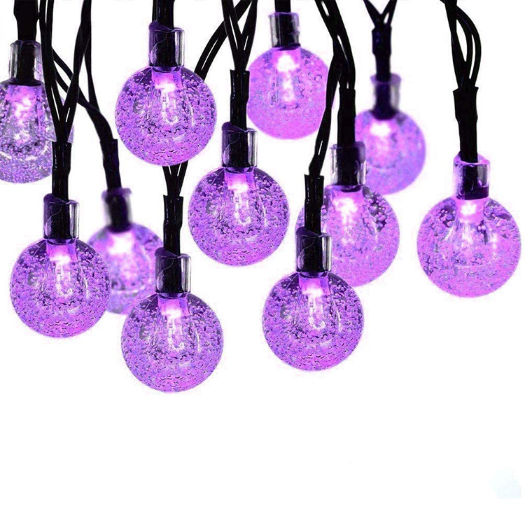 2M 20LEDs Halloween String Light for Outdoor Garden Decoration Bubble Lamp Purple Light_2 meters 20 lights